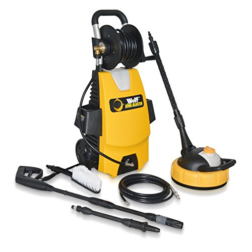 PRE SEASON SALE Wolf Garden KING Blaster 160 Bar Power Washer 2000 Watt with Complete Kit Includes: Patio Cleaner, Car Brush, Turbo Lance and Drain Cleaner