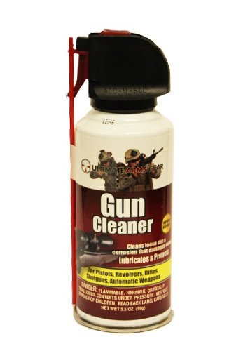 Ultimate Arms Gear Pro Armorer's Gun Cleaner Lubricant Protector Preservative Jet Action Spray Safe Aerosol Travel Range Field Can Bottle Cleans Loose Dirt, Rust & Corrosion that Damages Metal Parts for Cleaning Firearms Pistols, Revolvers, Rifles, Shotguns & Auto Weapons
