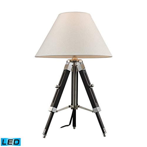 """17-24"""" Studio Adjustable Led Table Lamp In Chrome And Black"""