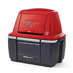 Step2  Corvette Storage Chest - Red/Black