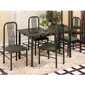 Picture of Acme Furniture Marble Dinette Set (VF_AZ28-14514) (Dinette Sets)
