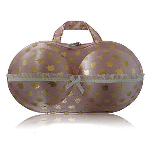LifeJoy protéger soutien-gorge sous-vêtements Lingerie cas Organisateur Sac de voyage pour rangement & Rose pomme Doré)