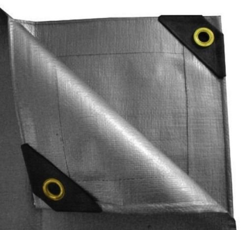 Best Price Tarp Canopy Reinforced Poly Tarpaulin Water & Tear Resistant w/ Extra Grip Eyelets (10'x2...