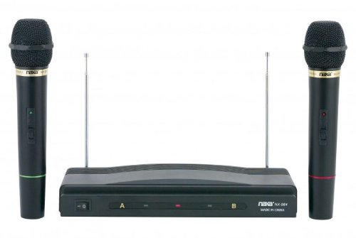 Naxa Nam-984 Dual Handheld Wireless Microphone Starter Kit With Wireless Fm Receiver