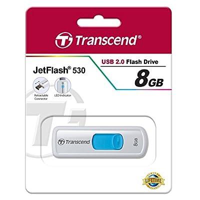 Transcend JetFlash 500 8GB Retractable USB 2.0 Pen Drive