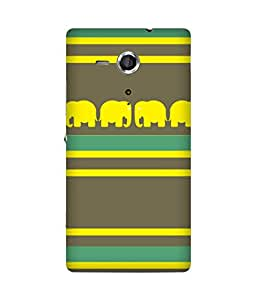 Stripes And Elephant Print (18) Sony Xperia SP Case