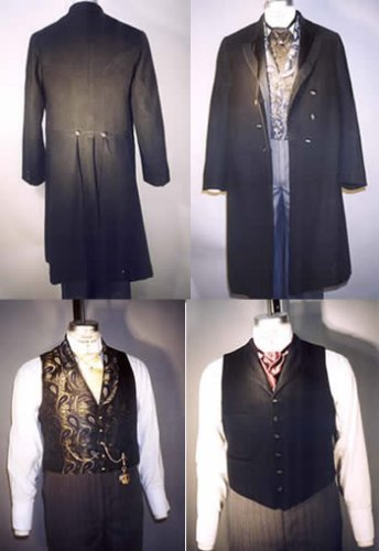 Best Deals! Laughing Moon #109 Men's Single and Double Breasted Frock Coats with Vests 1850 - 1915 S...