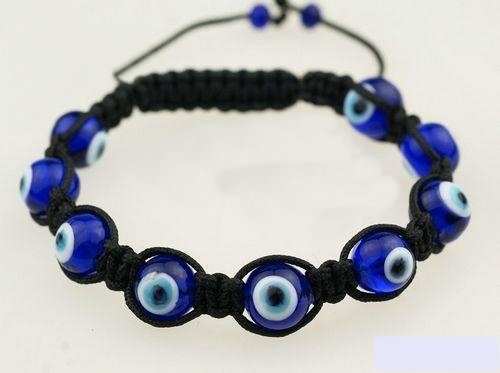 Glass Evil Eye Bracelet Original Navy