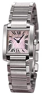 Cartier Women's W51028Q3 Tank Francaise Pink Mother of Pearl Watch from Cartier