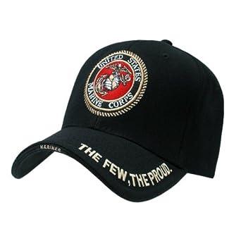 "Deluxe USMC G&A"" Low Profile Insignia Baseball Cap, Black"""