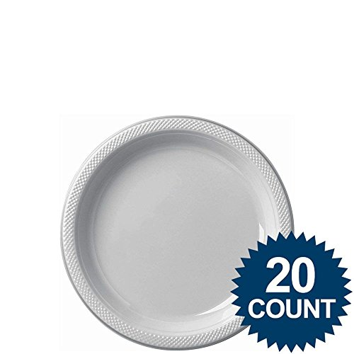 7 inches plstable cover plate 20 ct-silver