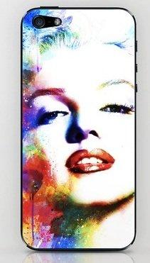 並行輸入品マリリン・モンロー society6 iphone 5/5sステッカー (Marilyn8)