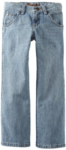 Wrangler Big Boys' Relaxed Seat And Thigh Boot Cut Jean, Ocean Water, 11 Slim