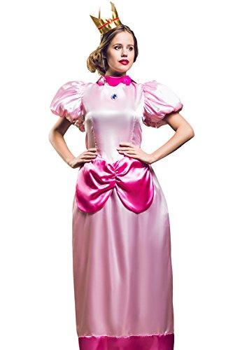 Adult Women Empress Halloween Costume Her Majesty Pink Queen Dress Up & Role Play (One Size - Fits (Beauty Queen Fancy Dress)