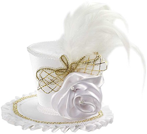 Forum Novelties Women's Mini Top Hat with Rose Costume Accessory