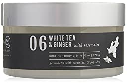Me bath Ultra Rich Body Creme, White Tea and Ginger with Rosewater, 6 Ounce