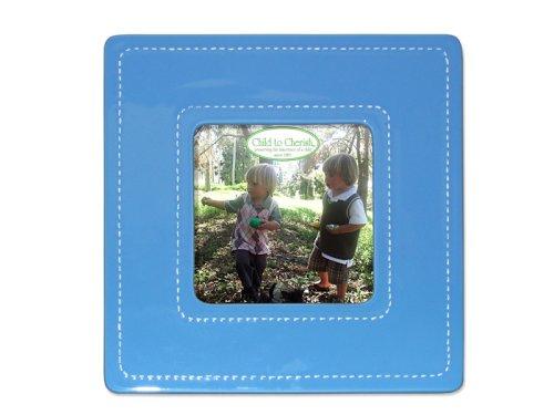 Child to Cherish Large Stitched Ceramic Frame, Blue