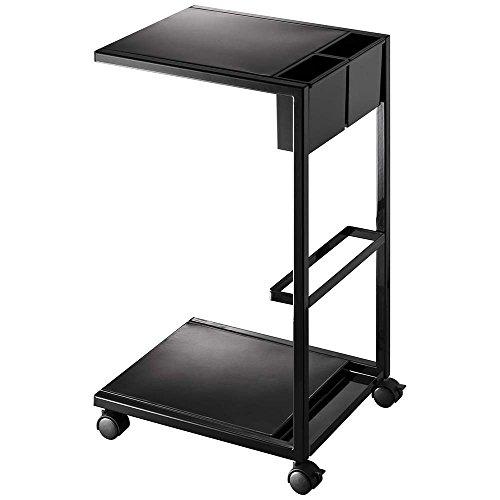 サイドテーブル/サイドテーブルワゴン タワー カラー:ブラック 品番:7156 [71567]