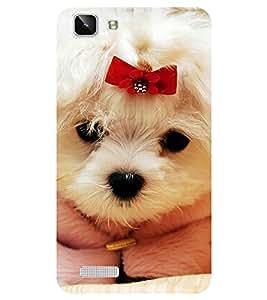 Chiraiyaa Designer Printed Premium Back Cover Case for Vivo Y27 Vivo Y27L (dog puppy cute) (Multicolor)