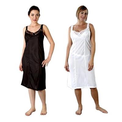 2er-Pack Frauen/Damen Unterkleider, 100% Polyester, verschiedene Farben & Größen