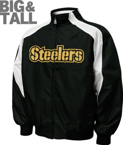 Pittsburgh Steelers Big & Tall Textured Full-Zip Jacket at Amazon.com