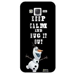 Hamee Disney Princess Frozen Official Licensed Designer Cover Hard Back Case for Samsung Galaxy On7 / On 7 ( Olaf Keep Calm )