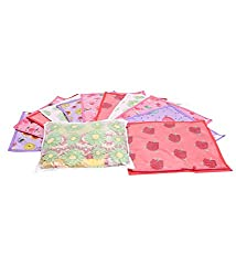 Kuber Industries Printed Non Wooven Saree Cover Set of 12 Pcs (Multi)