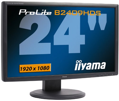 Ilyama PLB2409HDS-B 24-inch Widescreen LCD Monitor (1080P, HDMI, HAS) - Black