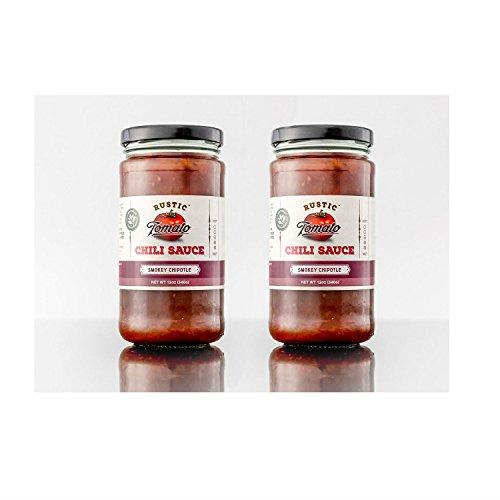 [Rustic Tomato Homemade 100% Natural Chili Sauce - 12 oz (Smokey Chipotle, 2-pack)] (Kikkoman Sauce Costume)