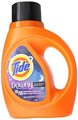 Tide Plus Downy Sweet Dreams Liquid Laundry Detergent, 40 oz