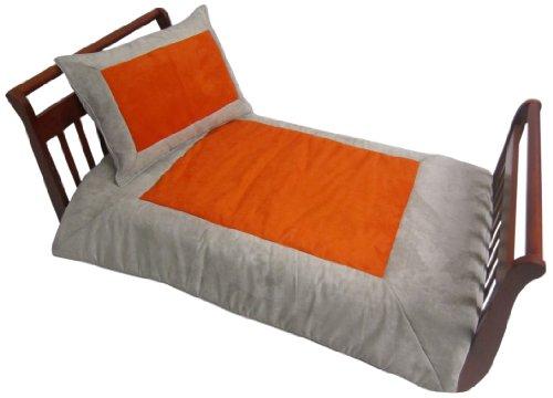 Baby Doll Bedding Set Zuma Toddler Bedding Set, Grey/Pumpkin