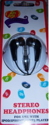 Jelly Belly Stereo Headphones For Ipod / Iphone & Mp3 Players Licorice