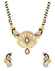 Voylla Mangalsutra Set With Peacock Design