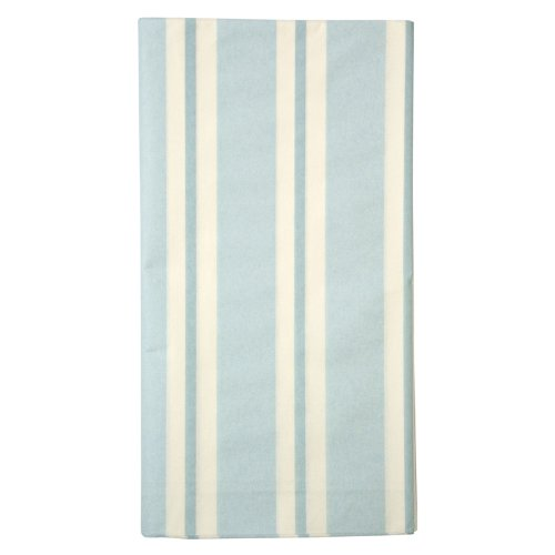 "Blue Stripe Paper Tablecloth Table Cover 102x54"" Peter Rabbit Meri Meri Party - 1"