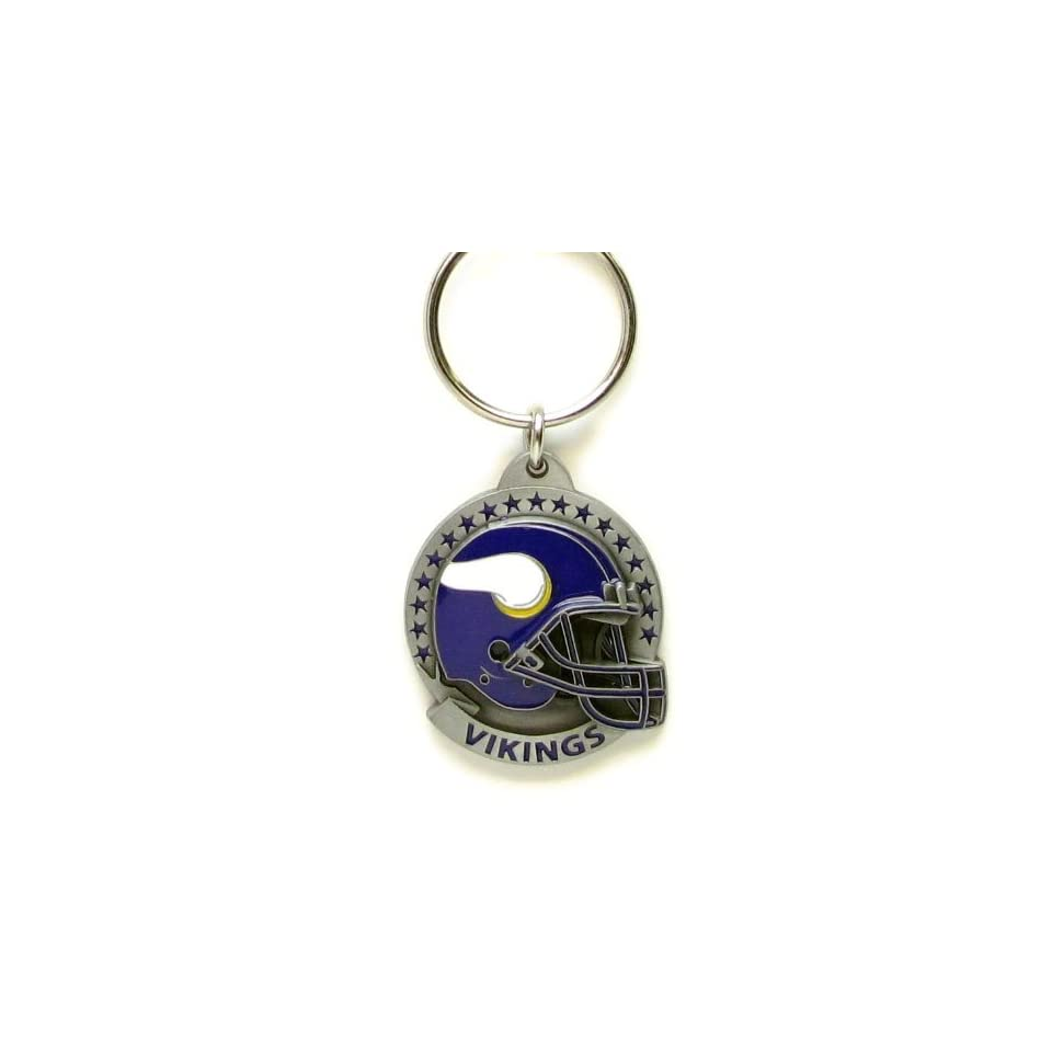 NFL Team Helmet Key Ring   Minnesota Vikings