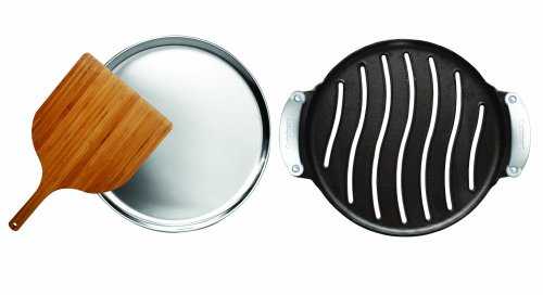 Cuisinart Pre-Seasoned Cast Iron Grilled Pizza Set