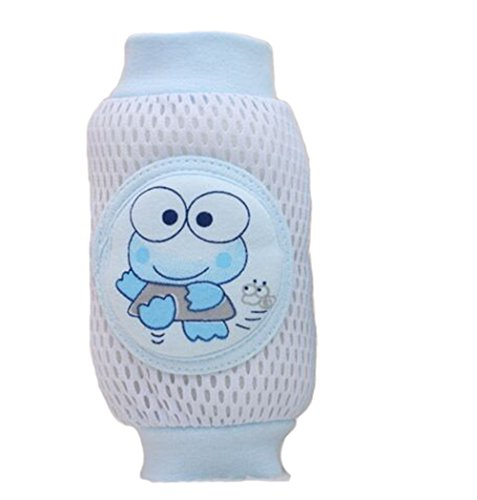 Why Should You Buy Blackcell Infant Toddler Baby Knee Pad Crawling Safety Protector (Frog blue)