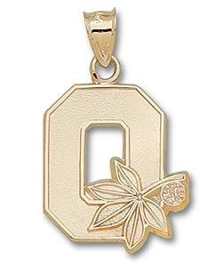 Ohio State University Block O 7 8 - 14K Gold by Logo Art