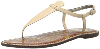 Sam Edelman Women's Gigi Leather Flip Flop,Buff Nude Leather,4 M US