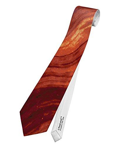 TooLoud Bacon Bacon Bacon Printed White Neck Tie All Over Print