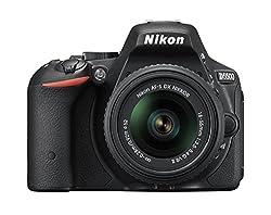 NIKON D 5500 BLACK DSLR WITH 18-55 VR II KIT, 8GB CARD , BAG