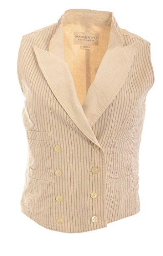 Ralph Lauren Denim&Supply Striped Double Breasted Vest X-Large Prairie Stripe