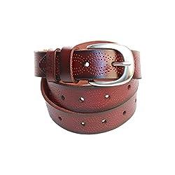 Lion Heart Women, Girls Casual Coffee Genuine Leather Belt