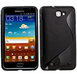 Black S-Line Soft TPU Gel Case Cover For Samsung© Galaxy Note / i9220 GT-N7000