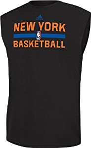 New York Knicks Black Climalite Practice Sleeveless Shirt by Adidas by adidas