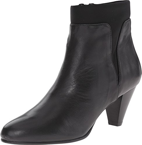David Tate Women's Vivian Fashion Ankle Boots, Black Leather, 4 M