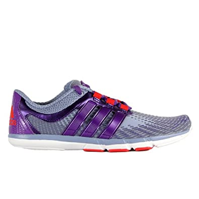 Adidas AdiPure Gazelle 2.0 Running Shoes - Purple/Metal Silver/Red (Womens) - 8