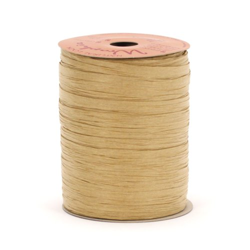 Berwick Wraphia II Matte Paper Craft Ribbon, 100-Yard Spool, Kraft