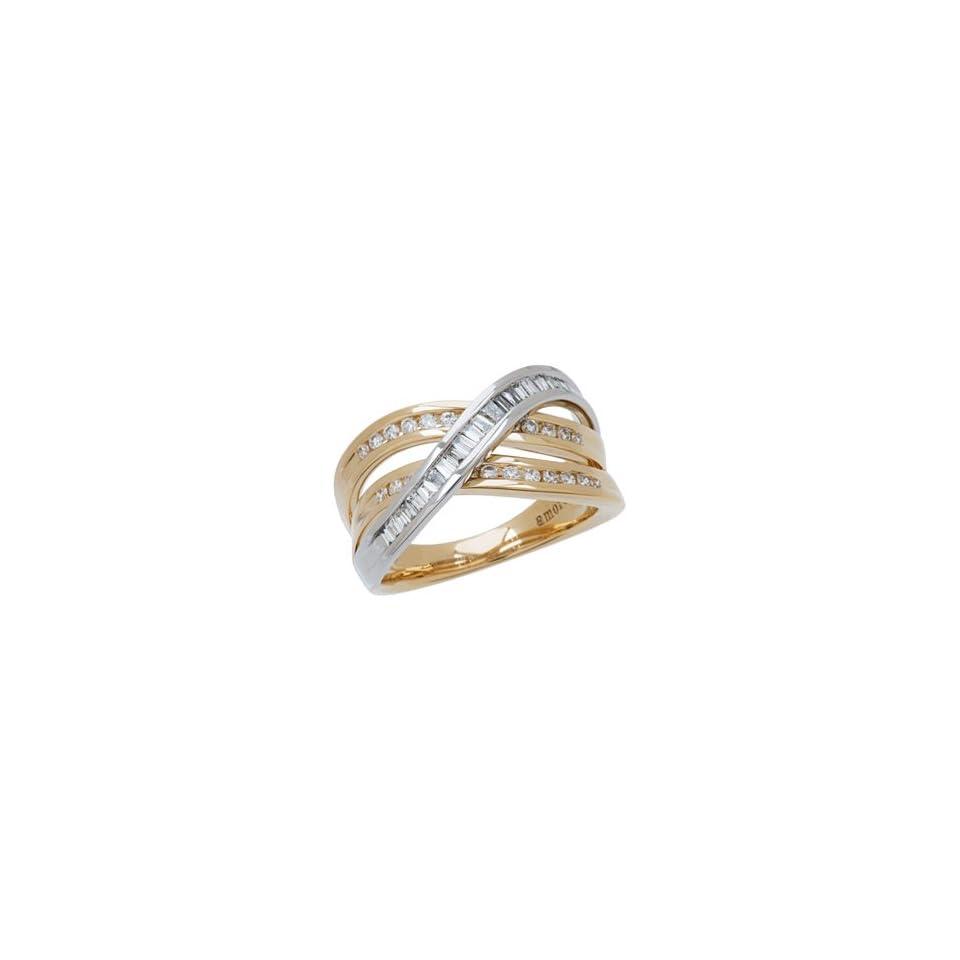 0.56 Carat 18kt Two Tone Gold Diamond Ring