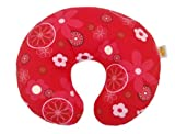 Theraline Wynnie American Style Nursing Pillow including Cover (Design 88, Retro Flowers Red Twill)